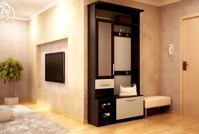 Для одного жильца, может, и нет смысла приобретать большой шкаф для хранения одежды в прихожей, можно обойтись вешалкой и парой ящиков комода