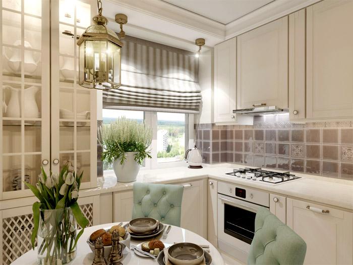 Маленькая кухня может быть очень удобной, главное, выбрать подходящие габариты мебели