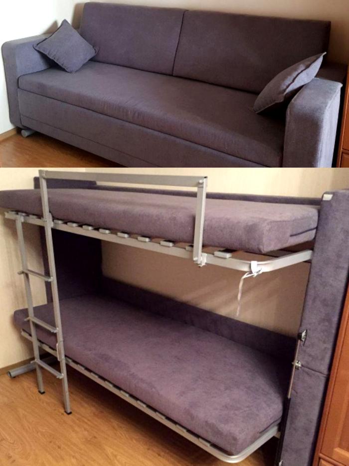 Мебель может быть современной и функциональной, вроде дивана-кровати