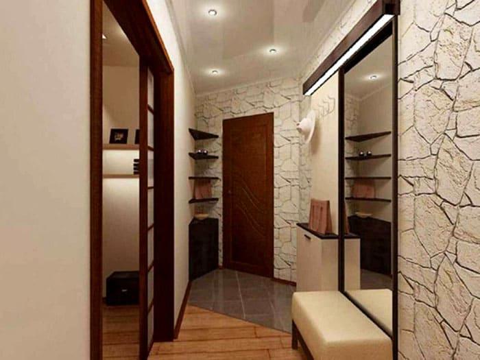 Зеркало может быть частью мебели или отдельным элементом, но хорошо, когда на него падает свет