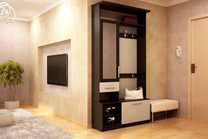 Проектировщики делают мебель максимально практичной, для квадратного помещения можно выбирать функциональный шкаф
