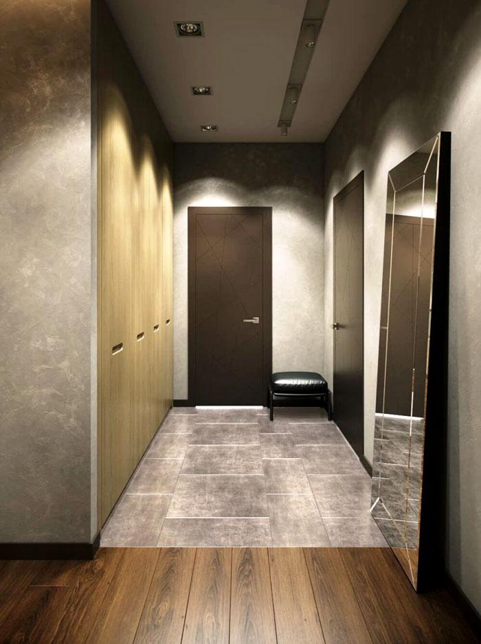 Встроенная мебель и зеркала — вот что делает интерьер поистине «минимальным»