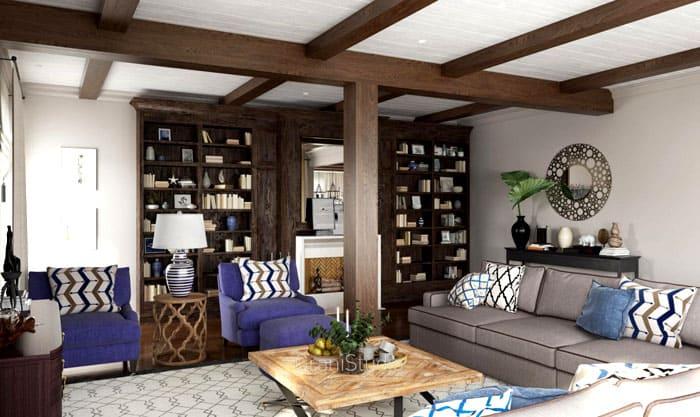 Мебель может быть из имитации дерева: бука, красного дерева, представленного шпоном