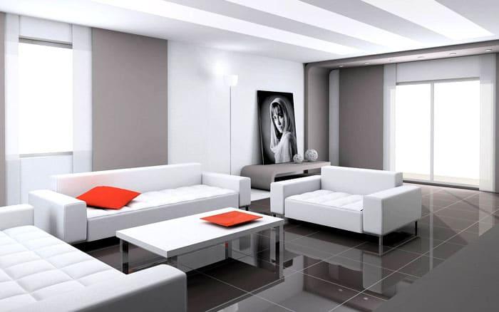 Главные цвета — серый, белый, чёрный выступают в гармонии друг с другом