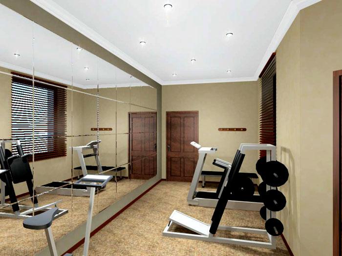 Зеркальная стена однозначно поможет делать упражнения эффективнее