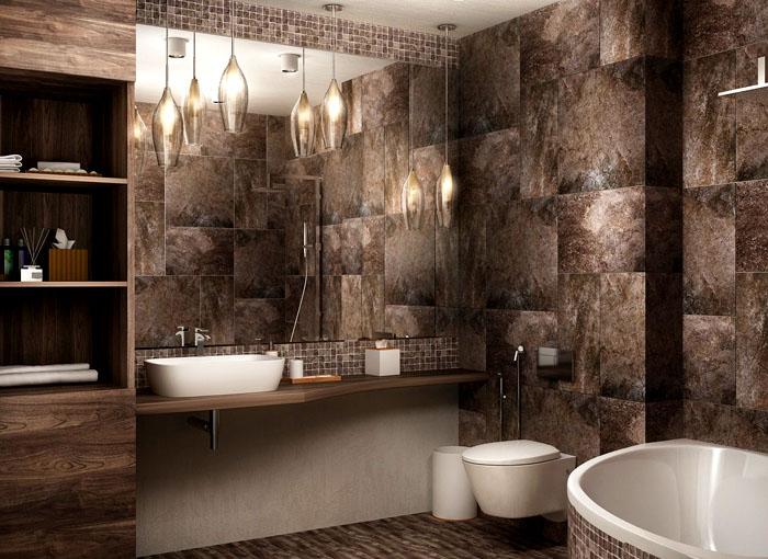Отделка для ванной играет большую роль, чем меблировка. Именно отделка и создаёт впечатление и вносит свои требования к подбору мебели