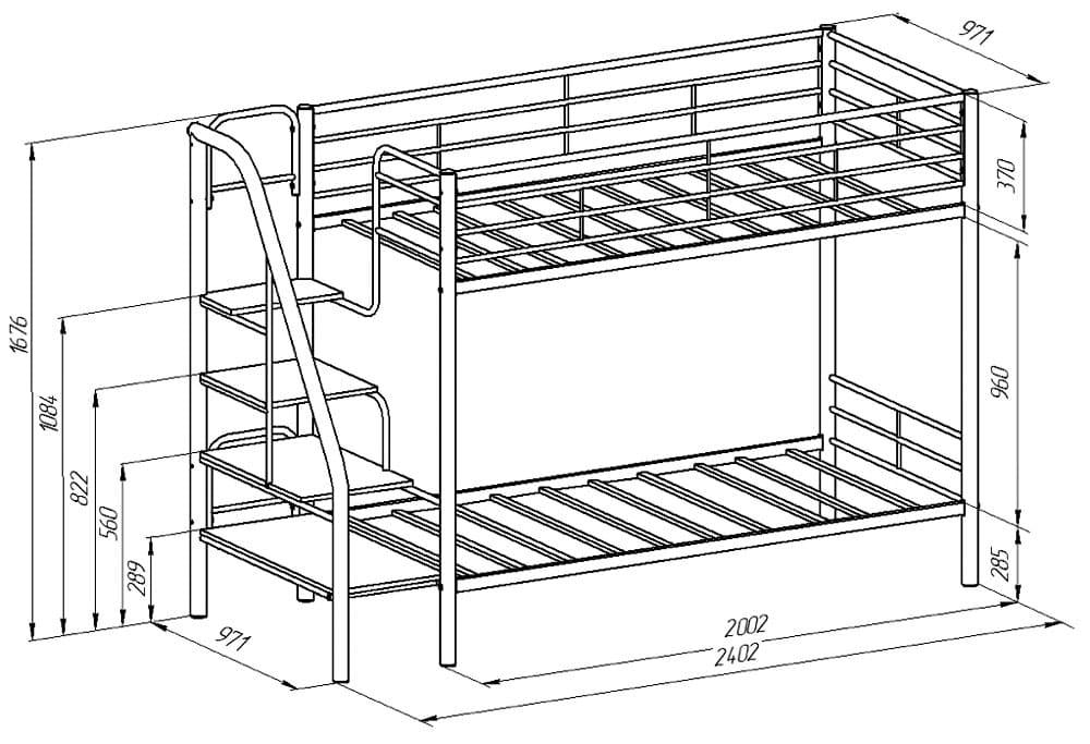 Самое сложное, это сделать фигурные элементы металлической спальной мебели