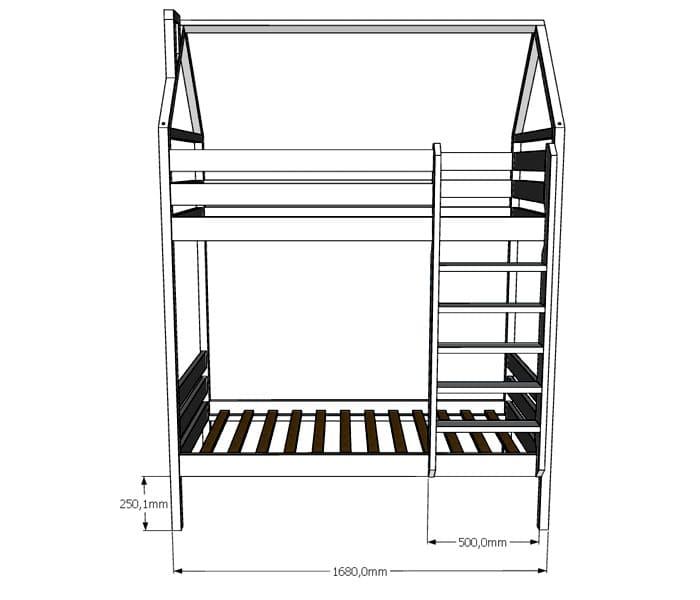 Проект кровати «Домик» считается одним из самых простых