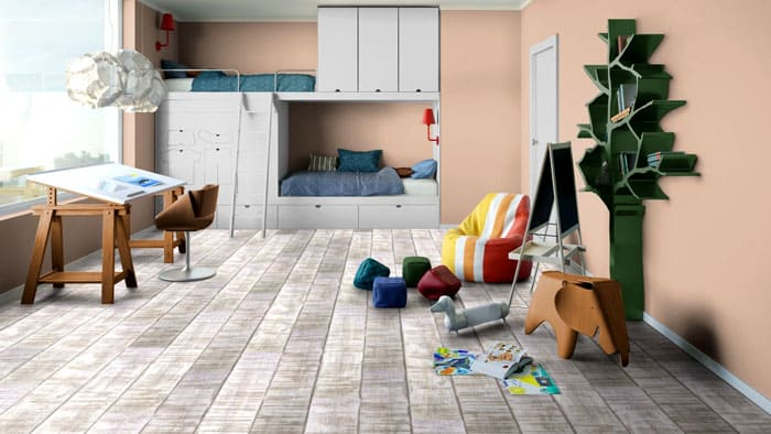 ФОТО: stroy-podskazka.ru Главный плюс линолеума в том, что его можно уложить на тёплый пол, что важно при создании детской комнаты