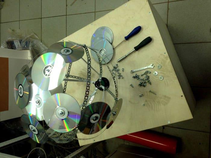 Пример ручного создания дискового светильника-шара