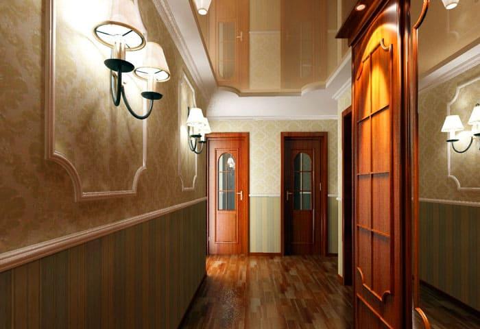Потолок и стены в одном цвете, но с разной фактурой поверхности смотрятся очаровательно