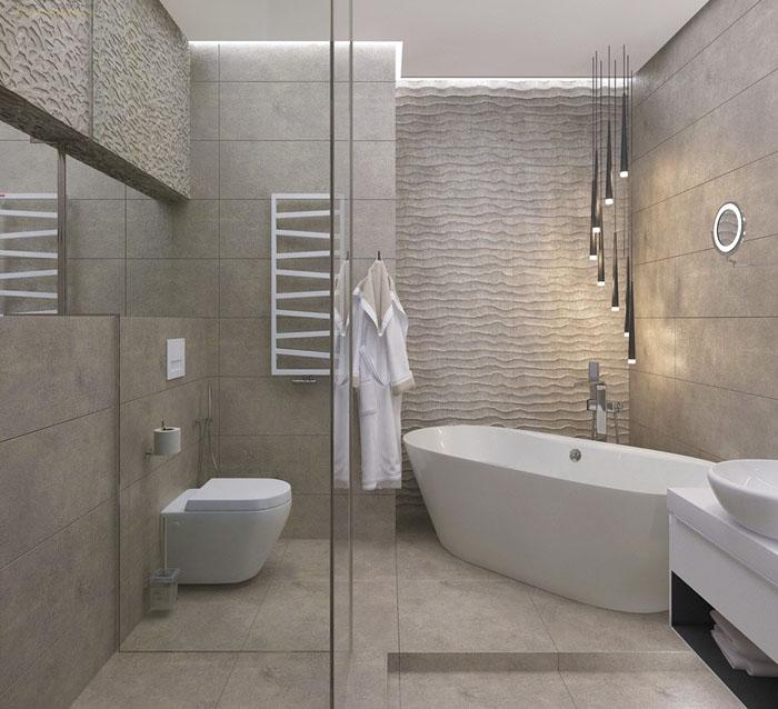 Даже маленькая часть стены с 3D-эффектом будет смотреться в общем интерьере элегантнее, чем простая отделка