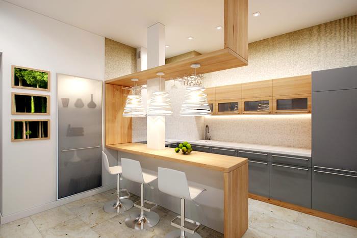 Барная стойка на кухне: фото
