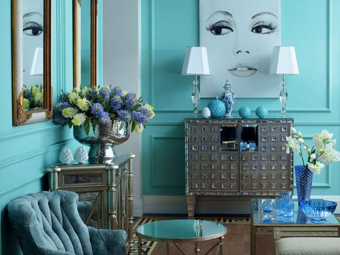 К такому цветовому решению почему-то легко подобрать аксессуары и декор