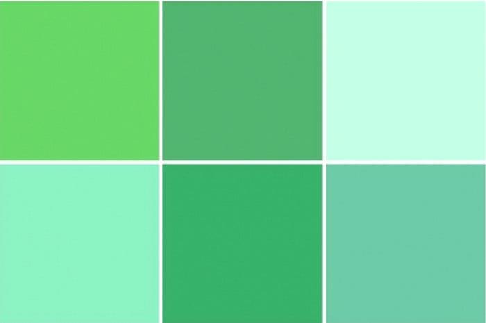 Мятные тона гораздо зеленее