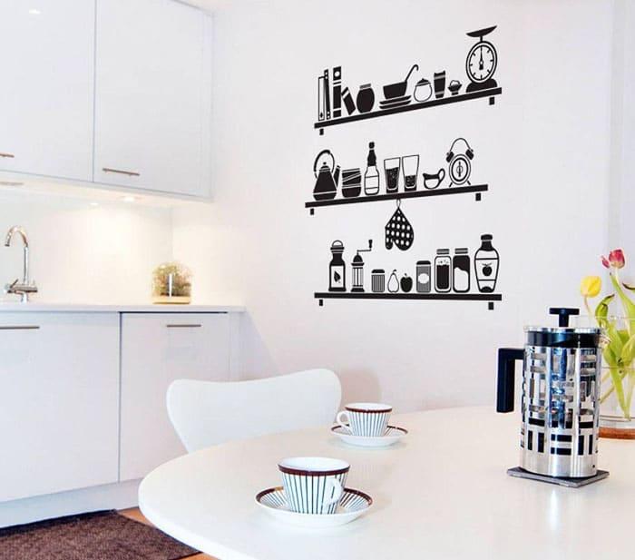 Для современных кухонь подходит такой материал, как оракал — самоклеющаяся плёнка разных цветов