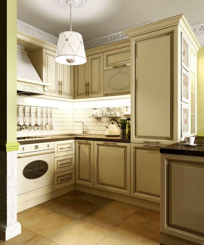 Такой гарнитур будет сочетаться с утончённым декором и зеленью комнатных растений на подоконнике