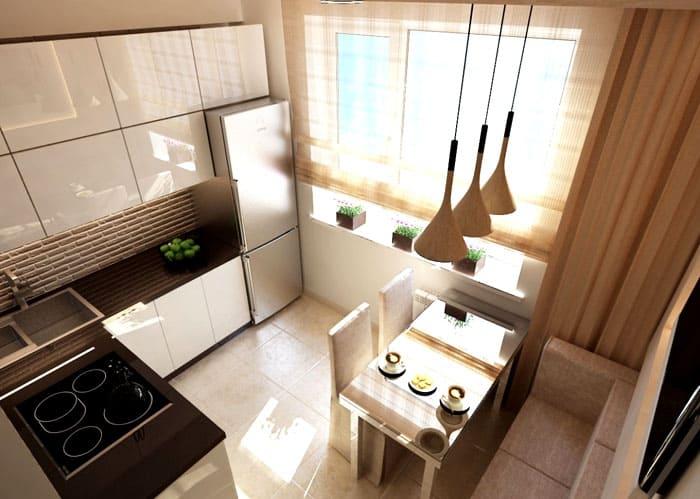 Маленькие кухни с холодильником тоже могут быть уютными
