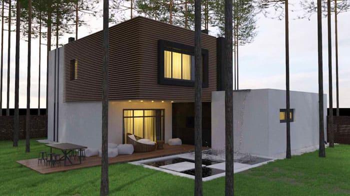 Дома могут походить на конструктор из разноразмерных блоков