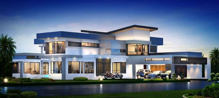 Плоская крыша – важная часть образа стилистического направления