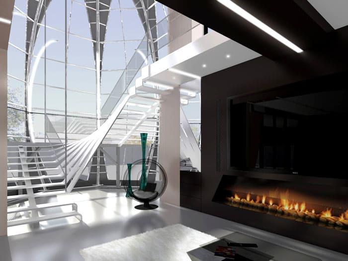 Первый этаж используется как самое функциональное место в доме. Раз здесь проводят большую часть времени, то и обустраивают всё максимально комфортно и красиво