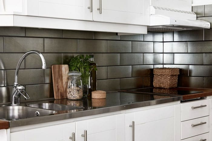 Подходящая плитка для кухни на фартук «под кирпич»