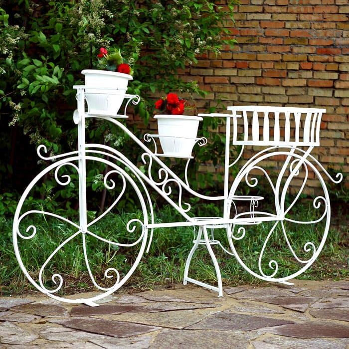 Популярность набирают садовые велосипеды для горшечных культур