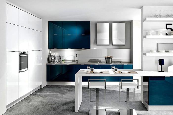 Кухни в стиле хай-тек, дизайн, фото