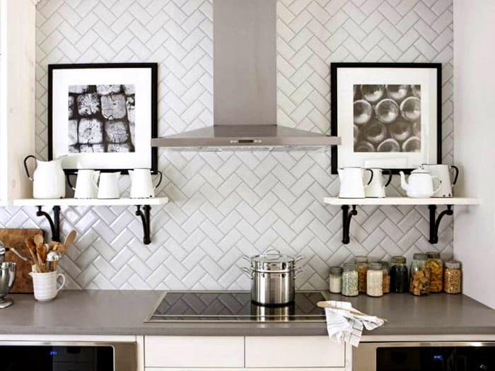 Расположение узора меняет восприятие облика кухни
