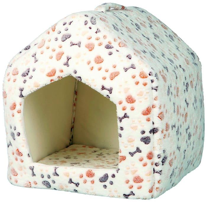 Собачий домик может иметь любую форму. Его можно делать конусом, треугольником или полукругом