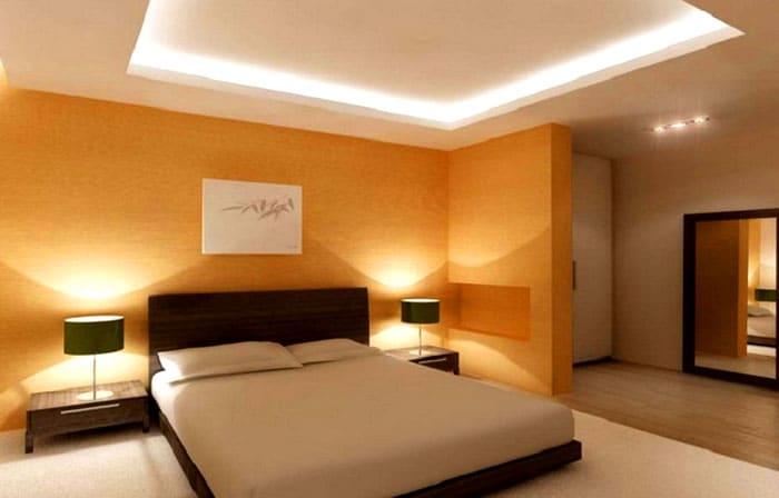 Многоуровневые конструкции располагают так, чтобы над кроватью была пустая зона