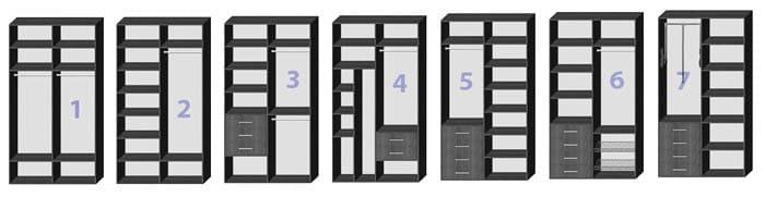 Двери две, вариантов внутреннего наполнения много