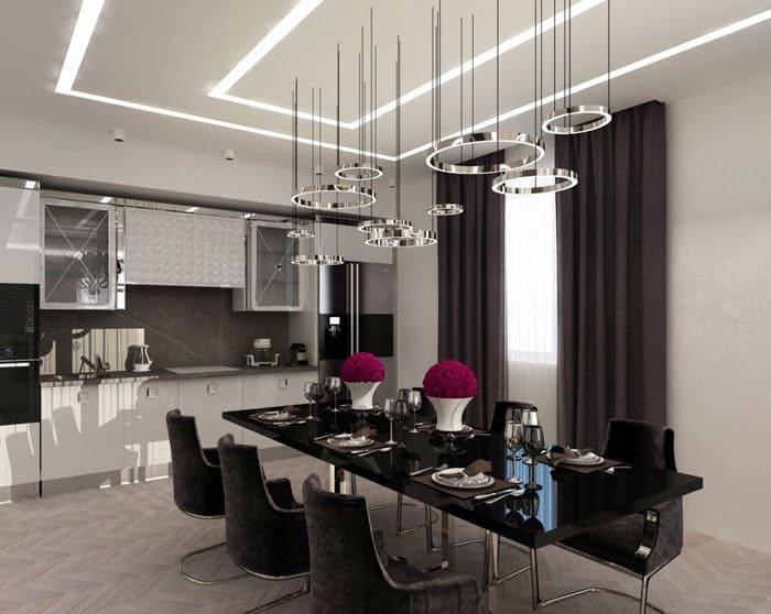 Длинные столы позволяют созвать сразу большое количество гостей