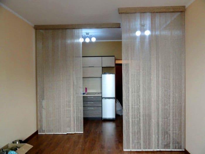 Кисейные шторы не делают пространство «тяжелее»