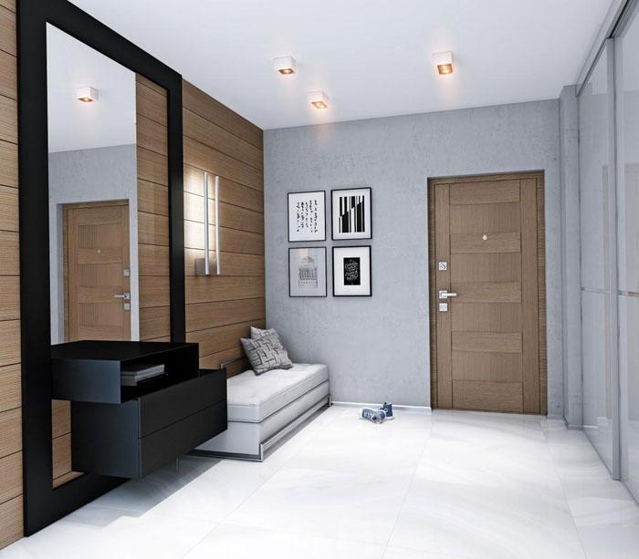Как пример, фото прихожей в коридор в современном стиле