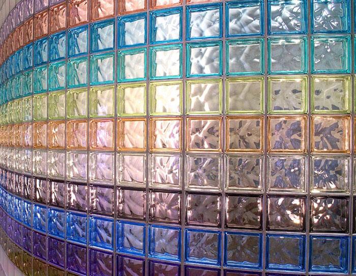 Блоки из стекла для перегородок масштабны