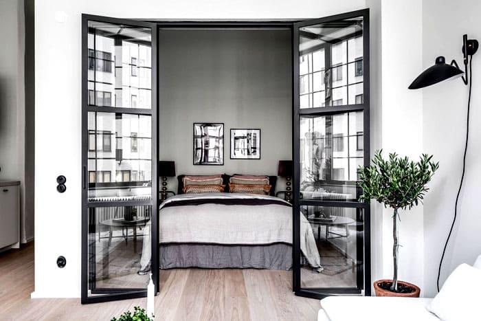 Раздвижная конструкция для спальни