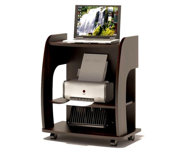 Прежде чем приобретать модели с местом для принтера, нужно сесть и посмотреть, удобно ли будет находиться и работать за таким предметом мебели