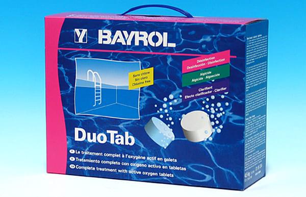 Одним из примеров таблетированных средств является «Байроклар дуо таб»