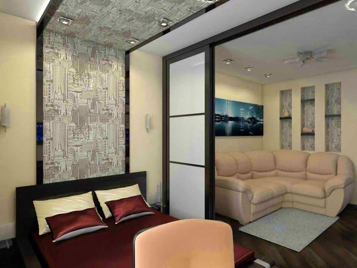 Зонирование применяется в квартирах, где невозможно расположить мебель так, как хочется
