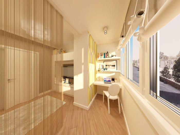Дизайн гостиной-спальни 18 м²