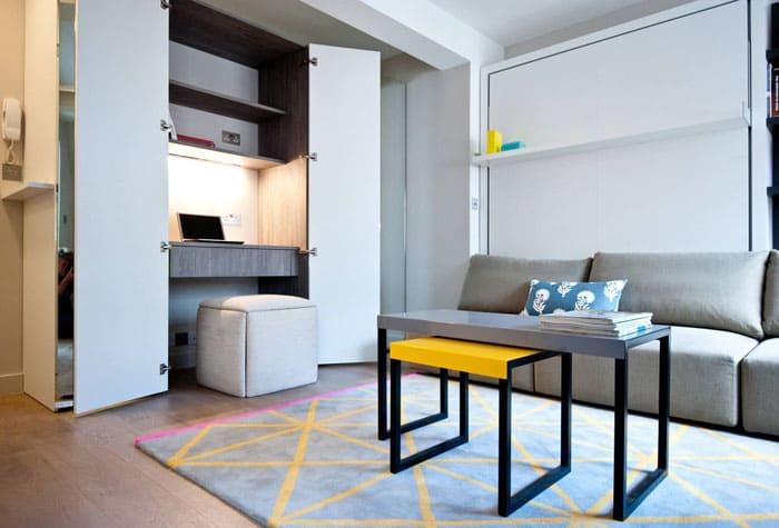Мебель – трансформер подходит для интерьера в любом стиле, если подобрать ее по цветовой гамме