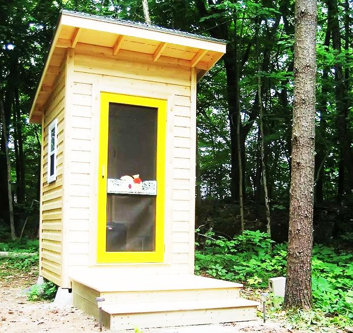 Отличный вариант продуваемого туалета. Подходит для летнего пользования