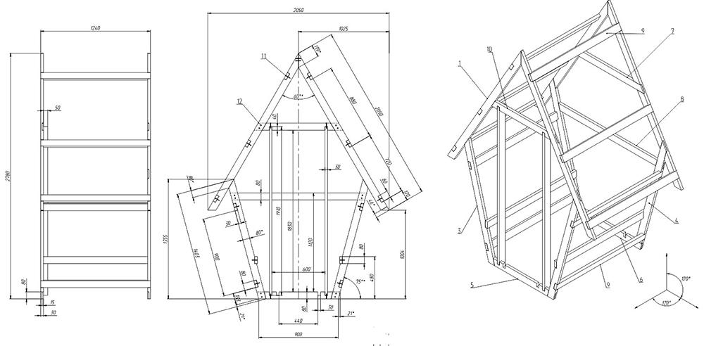 Кабинка в виде туалета-домика для дачи подойдёт для небольших участков