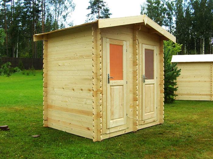 Распространённым видом материала для таких сооружений является натуральная древесина