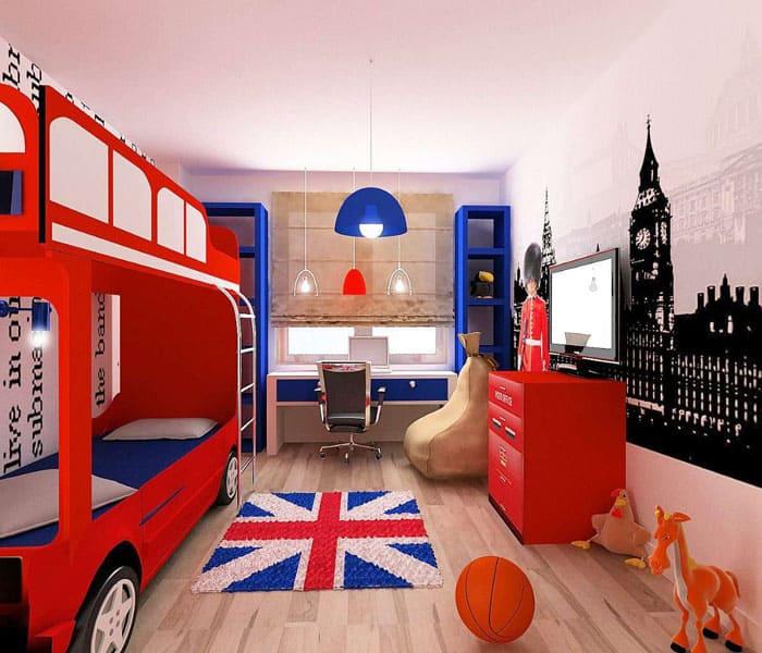 В тематическом дизайне, цвет изделий должен совпадать с общим обликом помещения