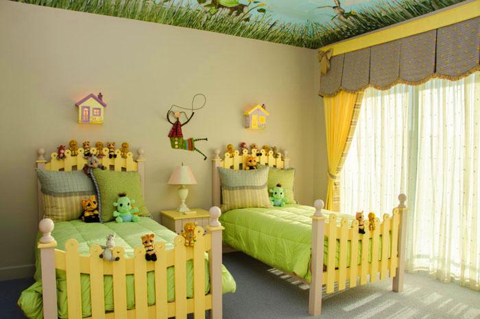 Милая расцветка малышковой комнаты