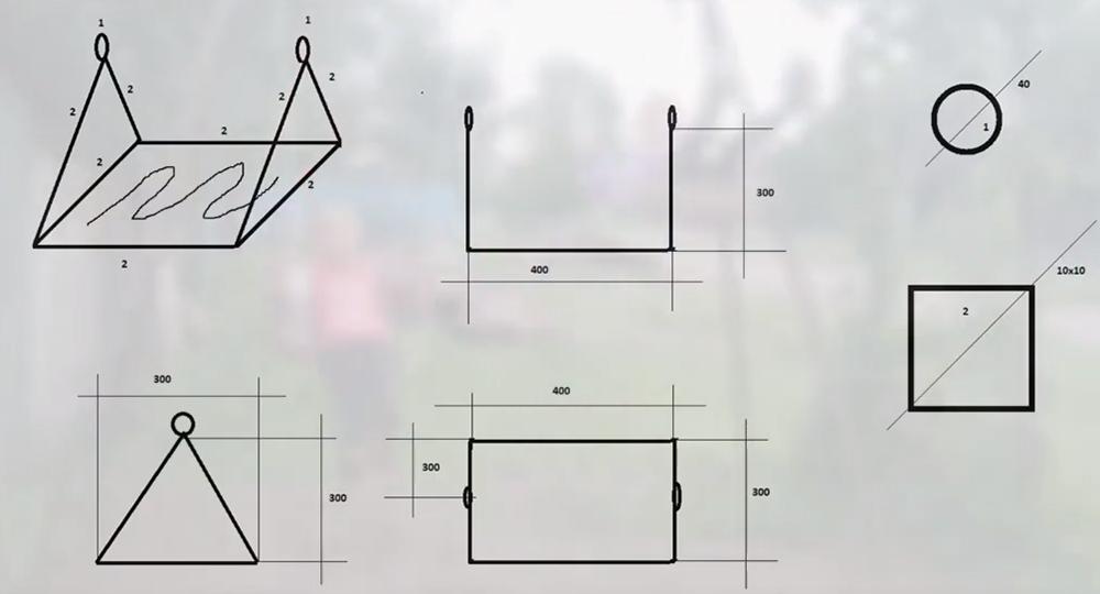 Конструкция сидений также рассмотрена на схеме