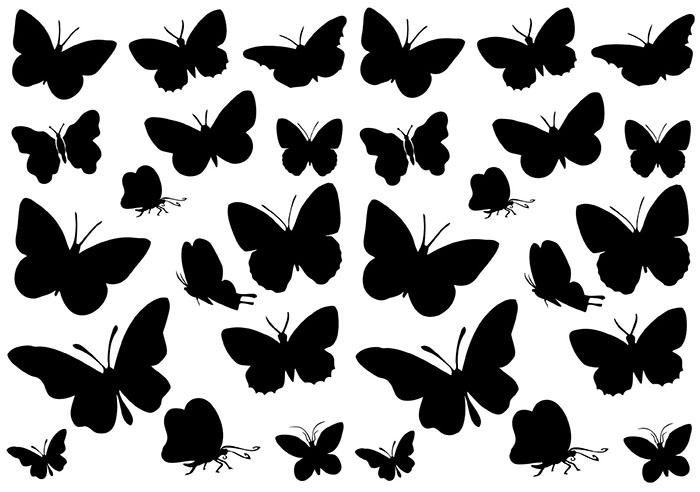 Бабочки в разном положении часто используются в качестве единичного декора