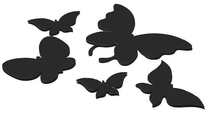 Объёмных бабочек лучше создавать с помощью шпаклёвки, а только потом окрашивать в нужный цвет